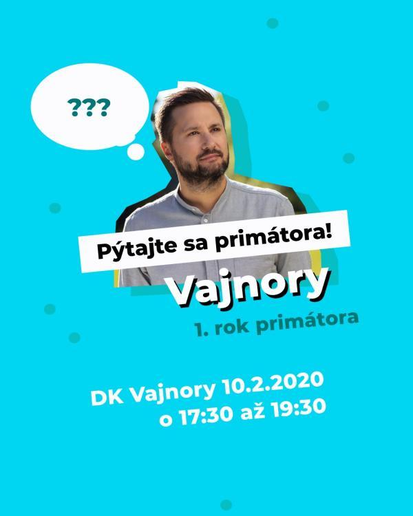 Stretnutie primátora Valla s občanmi Vajnôr 10. februára 2020