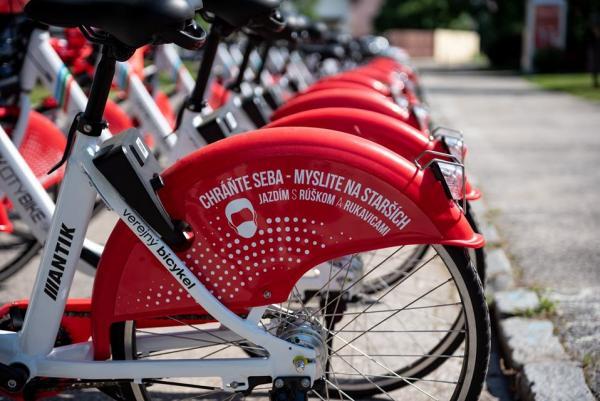 Spustili sme službu bikesharingu vo Vajnoroch