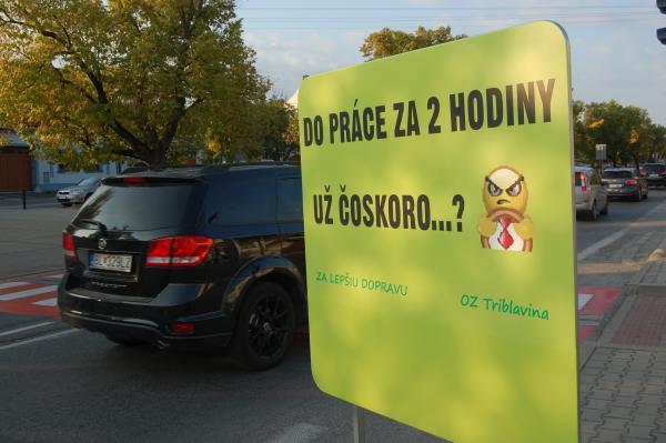Dopravný protest vo Vajnoroch a Ivanke