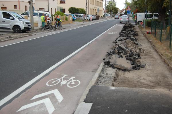 Dobrá správa: Začína sa oprava chodníkov na Osloboditeľskej ulici