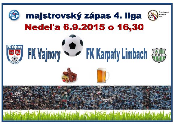 Futbalový zápas FK Vajnory – FK Karpaty Limbach 6.9.2015