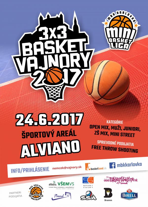 3x3 Basket Vajnory 24. júna 2017