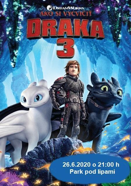 OPEN AIR Letné kino 2020: Ako si vycvičiť draka 3