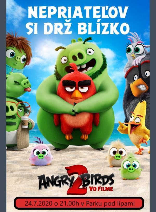 OPEN AIR Letné kino 2020: Angry birds 2
