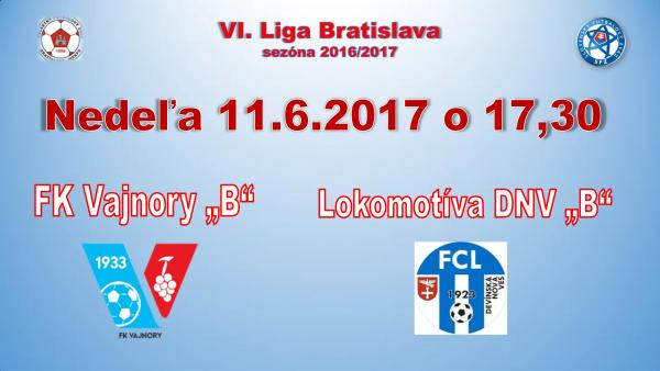 Futbalový zápas 11.6.2017