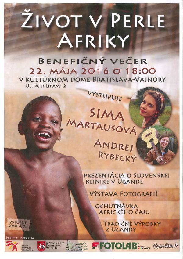 """Benefičný večer """"ŽIVOT V PERLE AFRIKY"""""""