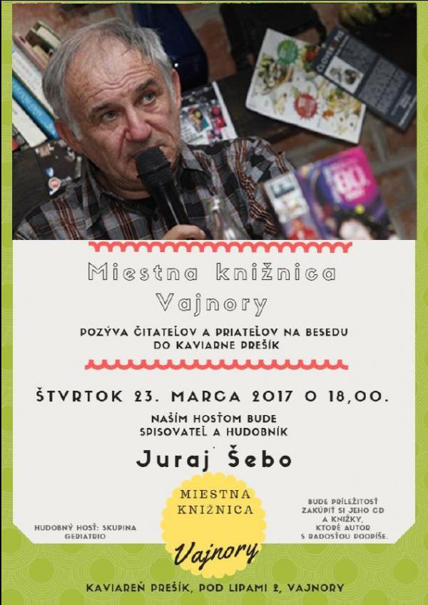 Pozvánka do knižnice ! Beseda s J. Šebom 23. marca 2017