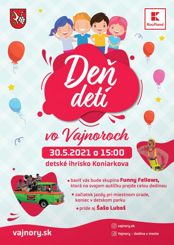 Deň detí vo Vajnoroch bude 30.mája 2021