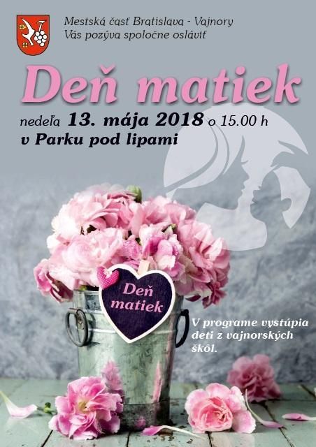 Deň matiek 13. mája 2018