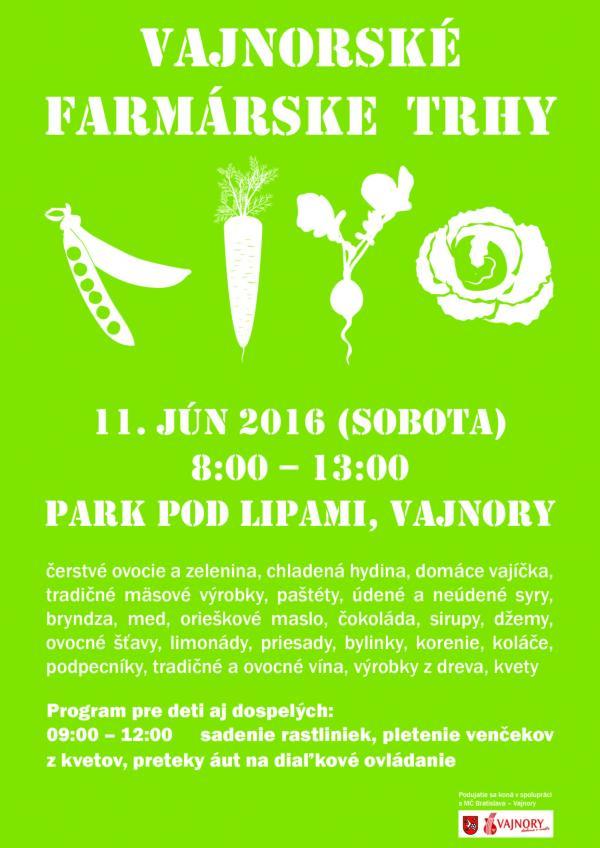 Vajnorské farmárske trhy 11. júna 2016