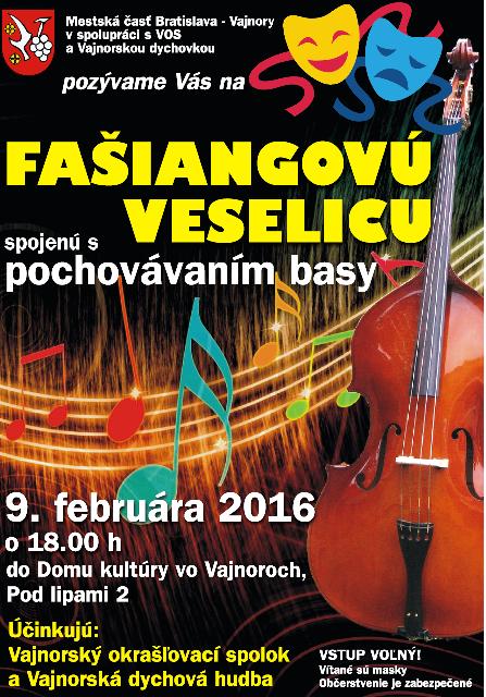 Fašiangová veselica a pochovávanie basy 9.2.2016