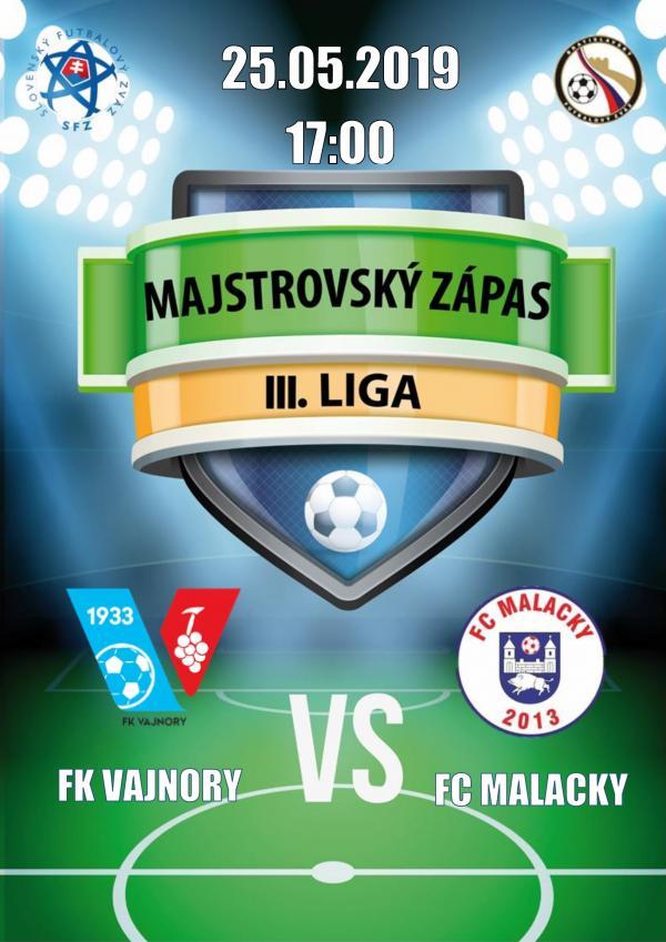 FK Vajnory aFC Malacky 25. mája 2019