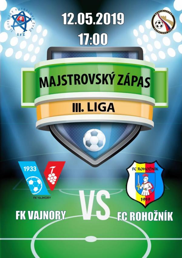 FK Vajnory - FC Rohožník 12. mája 2019