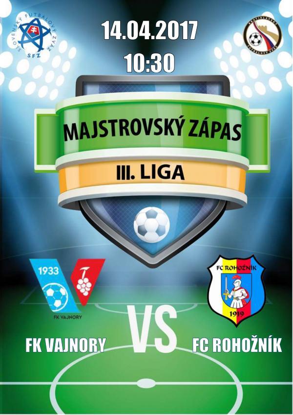 FK Vajnory - FC Rohoznik 14.4.2017