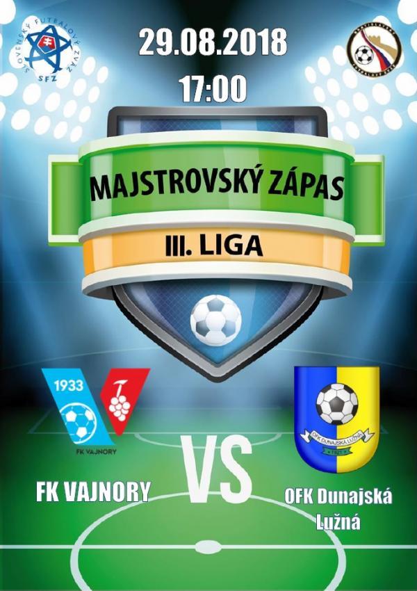 FK Vajnory - OFK Dunajská Lužná 29.8.2018
