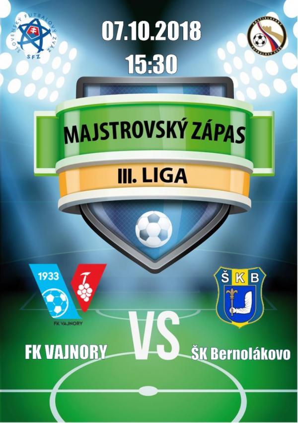 FK Vajnory - ŠK Bernolákovo 7.október 2018