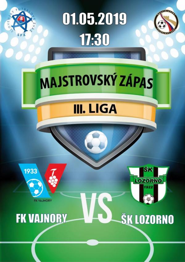 FK Vajnory - ŠK Lozorno 1. mája 2019