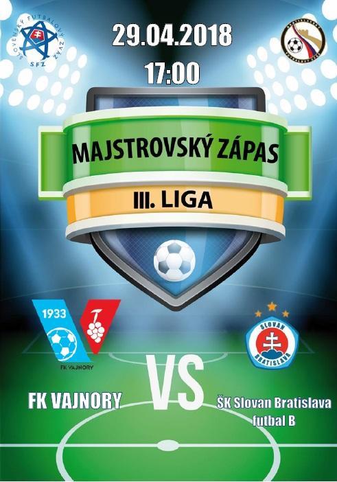 FK Vajnory a ŠK Slovan Bratislava futbal B