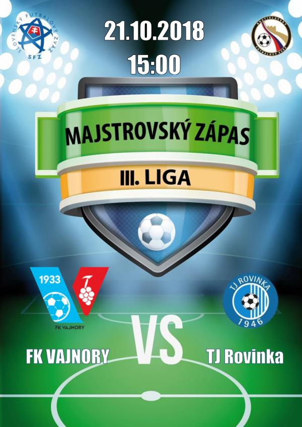 FK Vajnory - TJ Rovinka 21.10.2018
