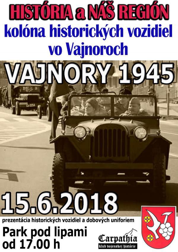 Prehliadka historických vozidiel a dobových uniforiem vo Vajnoroch 15. júna (piatok)