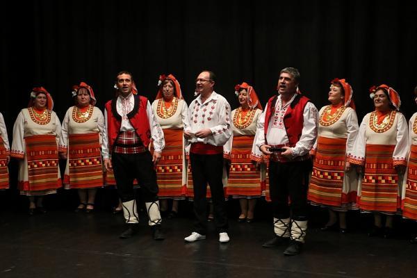 Vystúpenie bulharského folklórneho súboru