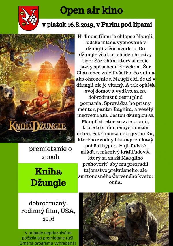 Letné kino: Kniha džungle