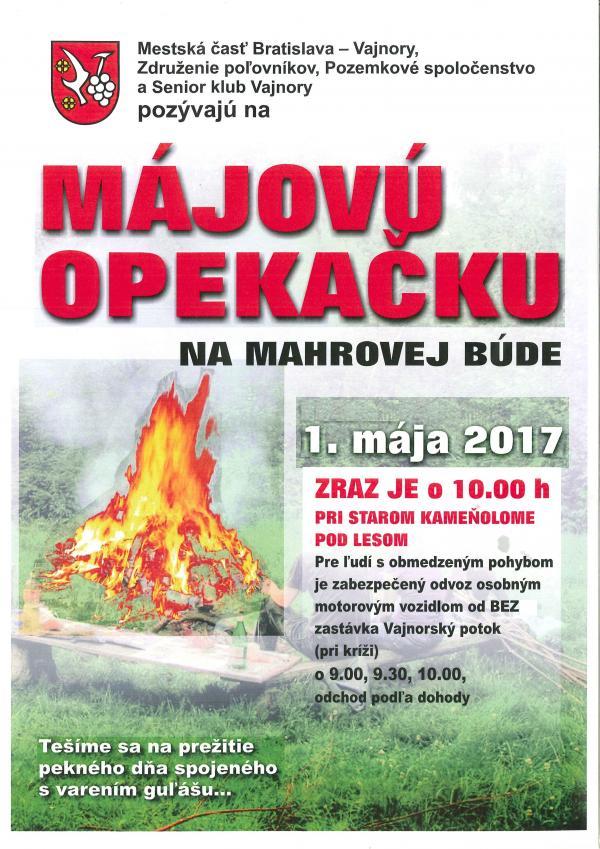 Májová opekačka na Mahrovej búde 1.5.2017