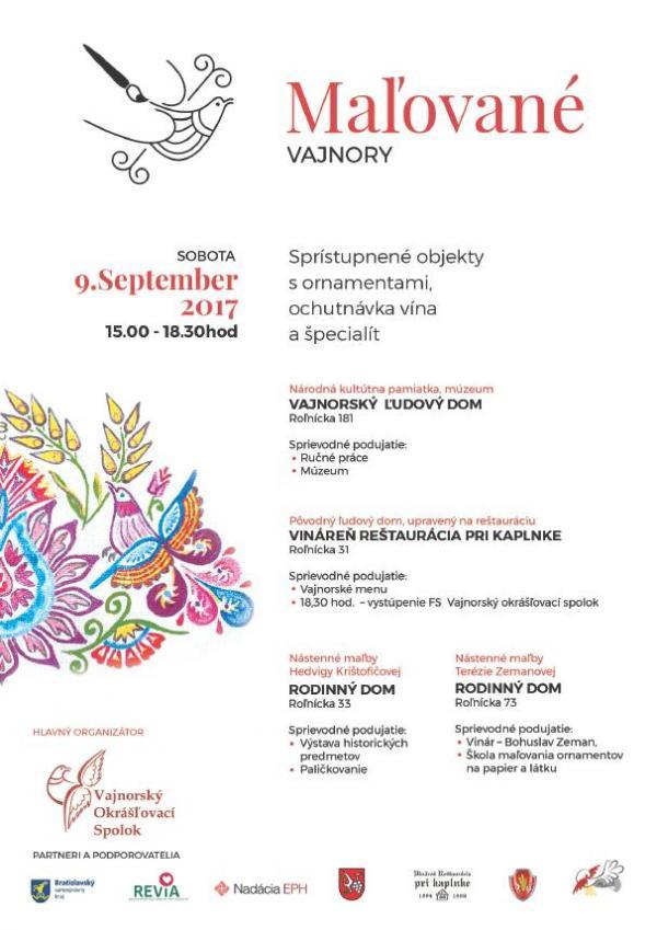 """""""Maľované Vajnory"""" 9. september 2017"""