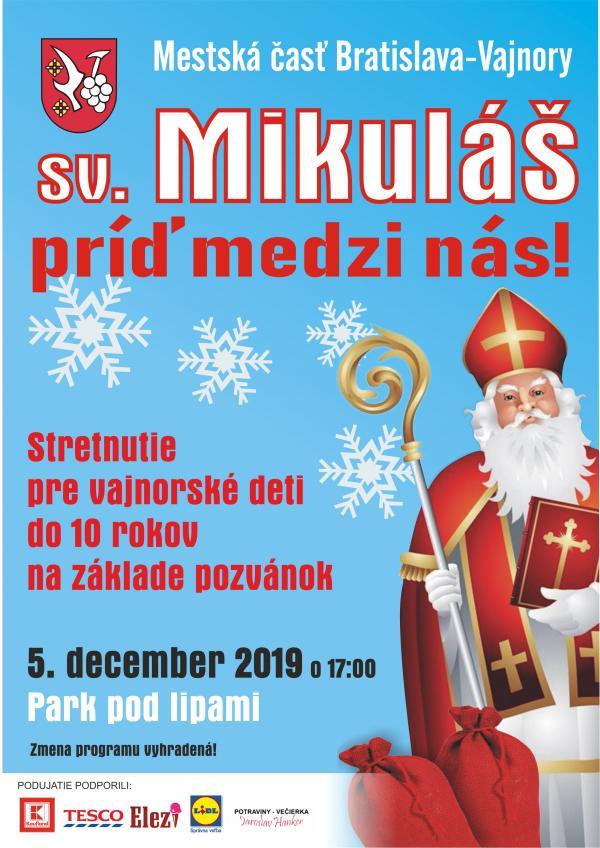 Rozsvietenie vianočného stromčeka so sv. Mikulášom