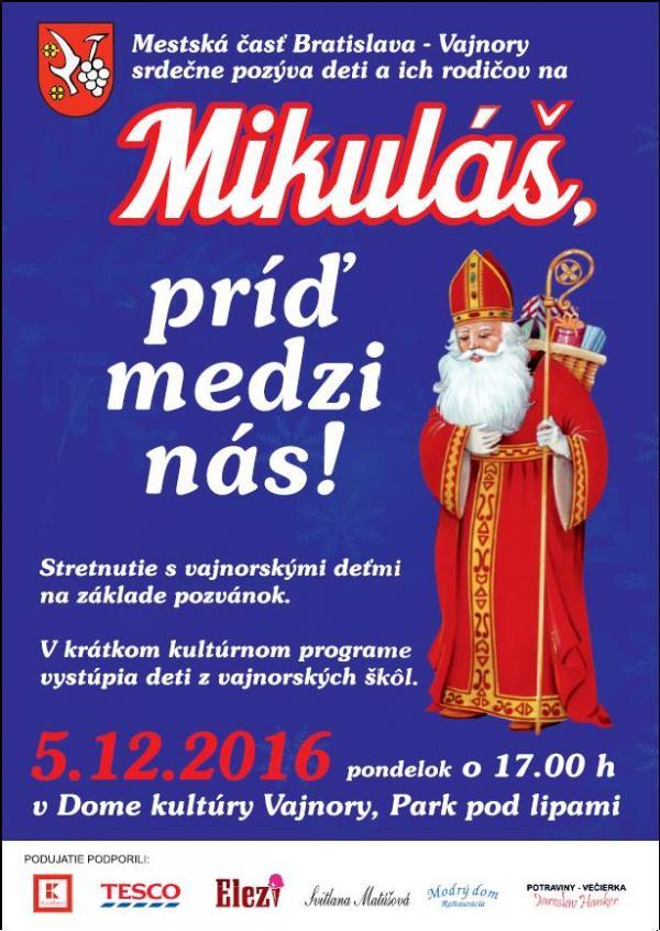 Stretnutie so sv. Mikulášom 5.12.2016