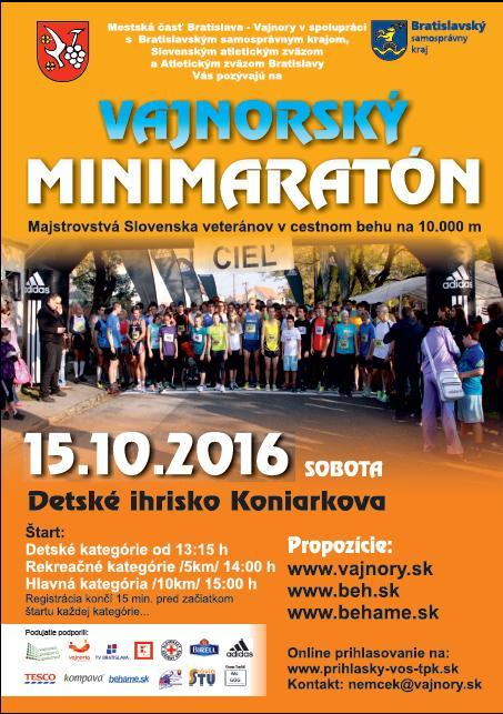 Vajnorský minimaratón 2016