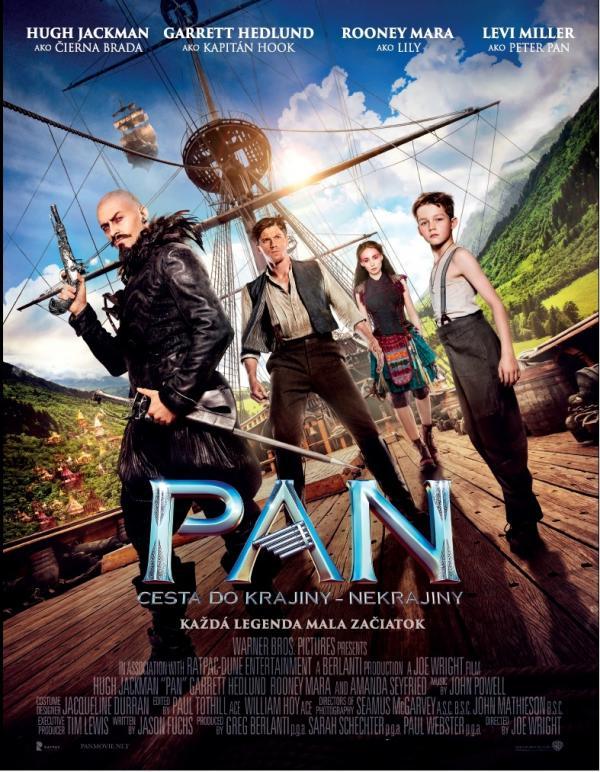 OPEN AIR Letné kino: PAN: Cesta do Krajiny – Nekrajiny