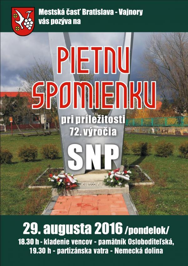 72. výročie osláv SNP
