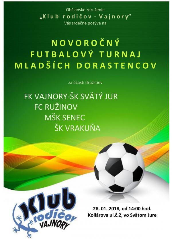 Novoročný futbalový turnaj mladších dorastencov
