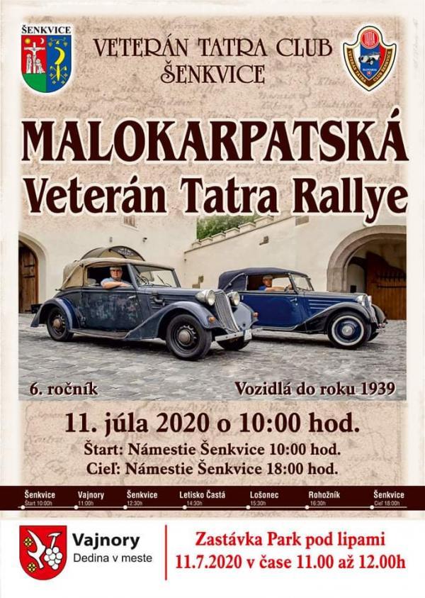 MALOKARPATSKÁ Veterán Tatra Rallye vo Vajnoroch