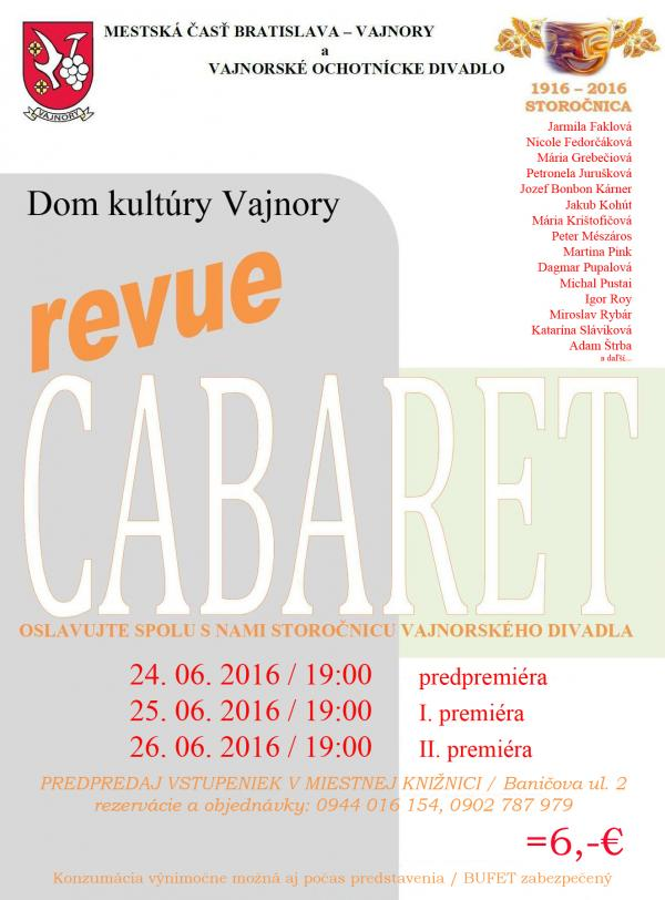 CABARET Revue 24.,25.,26.6.2016
