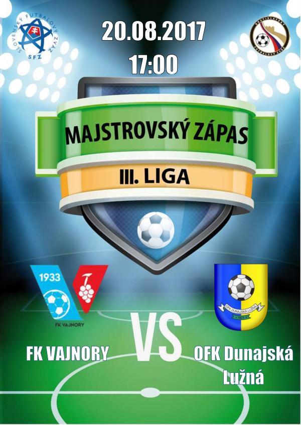FK Vajnory a OFK Dunajská Lužná
