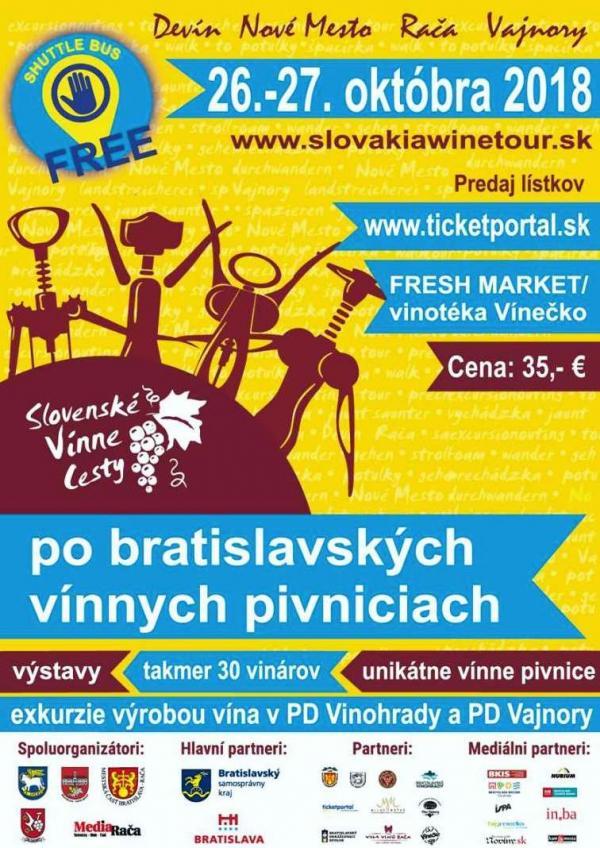 Po bratislavských vínnych pivniciach 26. - 27. októbra 2018