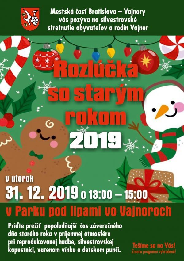 """""""Rozlúčka so starým rokom"""" 31. decembra 2019"""