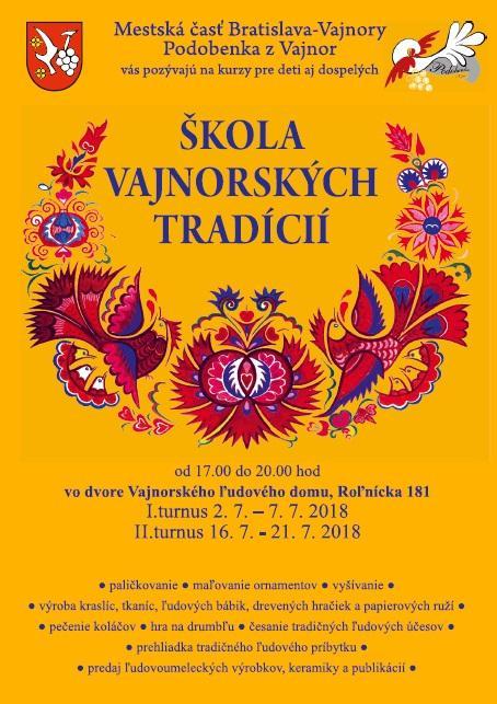 Letná Škola vajnorských tradícií 2018