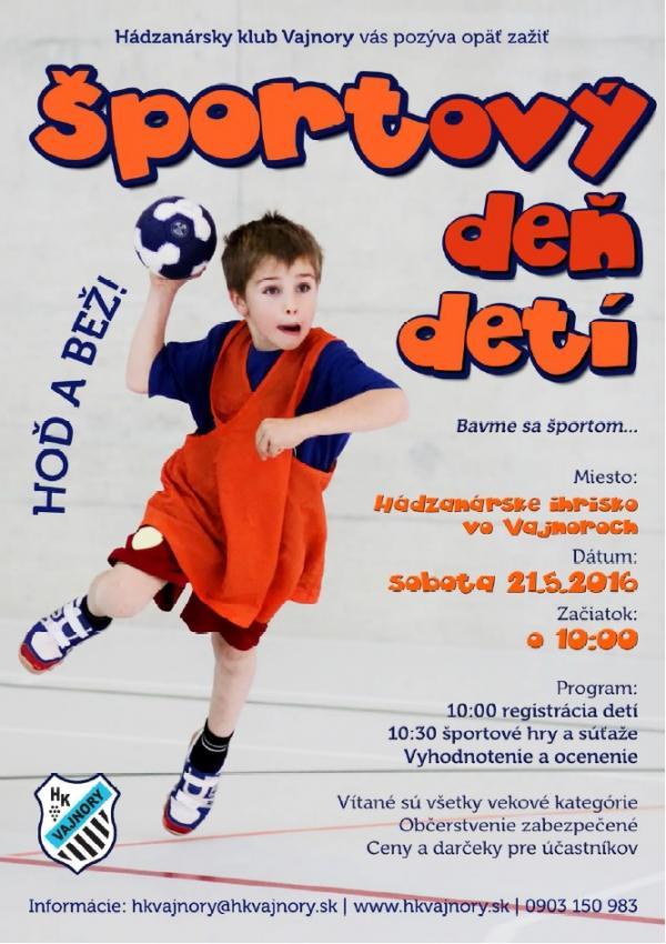 Športový deň detí 21.5.2016