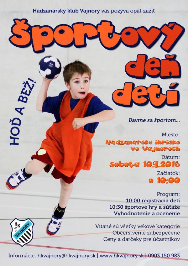 Športový deň detí 10.9.2016
