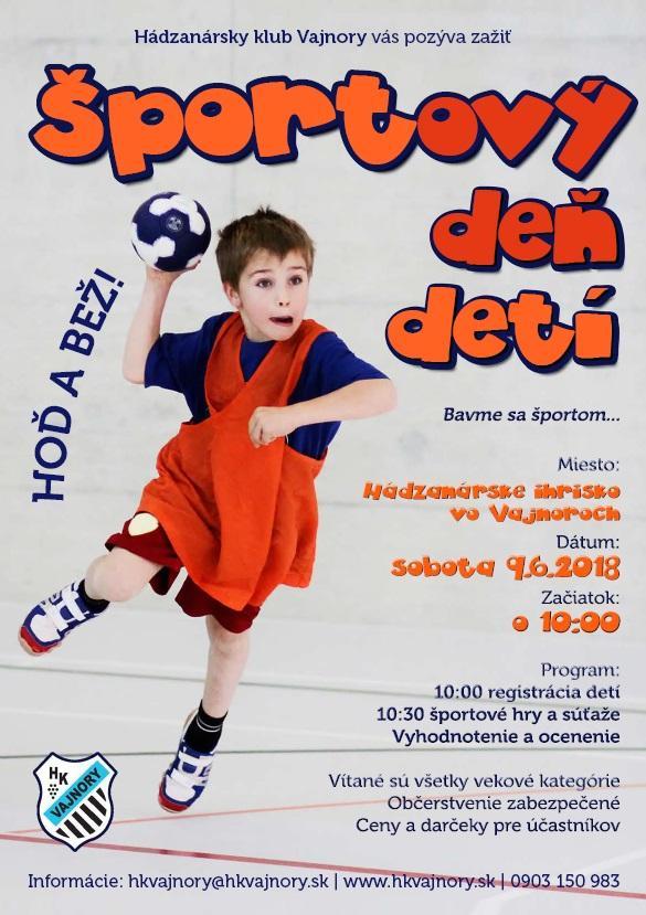 Športový deň detí 9. júna 2018