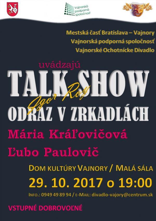 Talkshow: Odraz v zrkadlách 29. október 2017