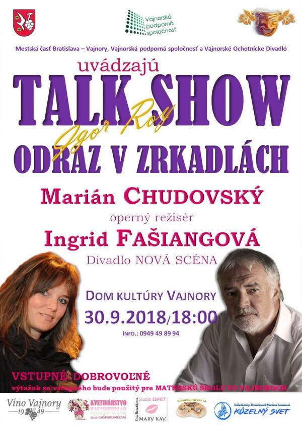 Talkshow Odraz v zrkadlách 30. september 2018