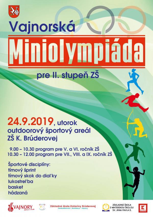 Vajnorská miniolympiáda 24. septembra 2019