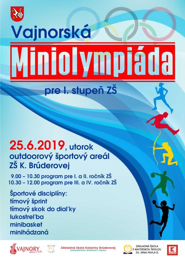 """""""Vajnorská Miniolympiáda""""  25. júna 2019"""