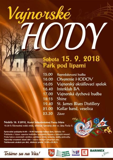 Hody vo Vajnoroch 15.-16.9.2018