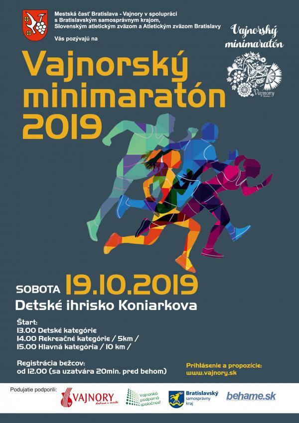 Vajnorský minimaratón 19. októbra 2019