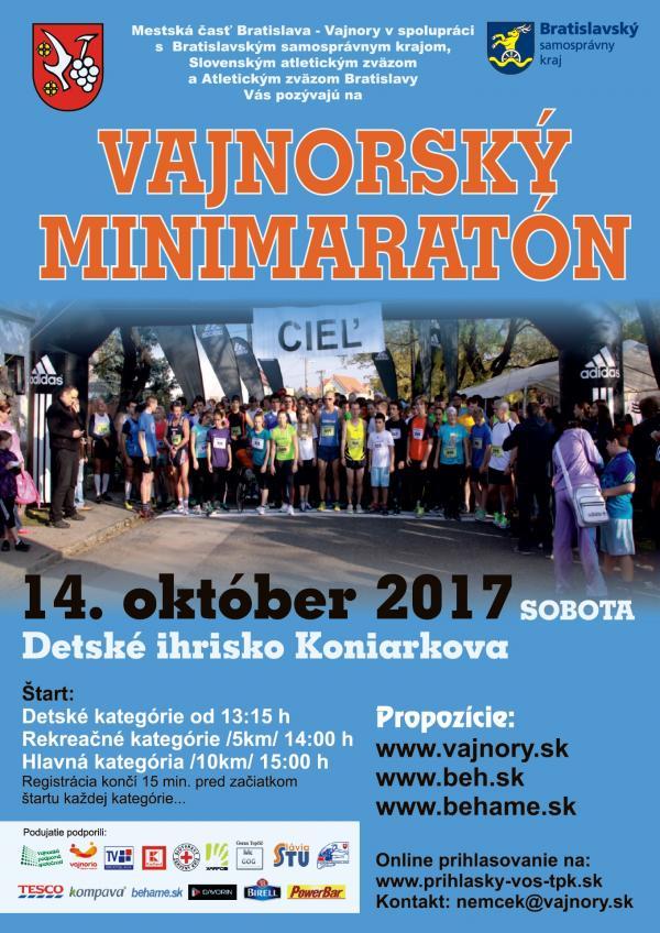 Vajnorský minimaratón 14. október 2017
